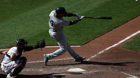 Starlin Castro of the New York Yankees