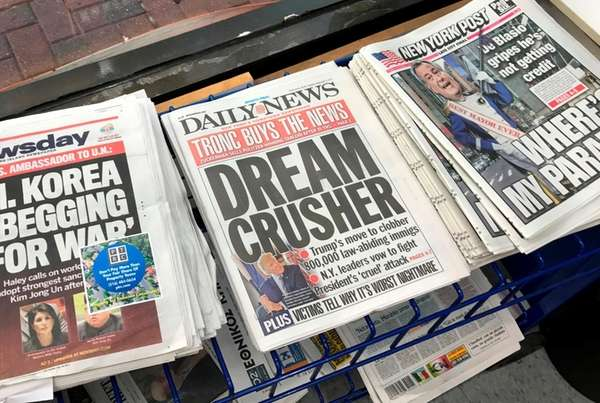 The New York Daily News is sold to tronc, Inc