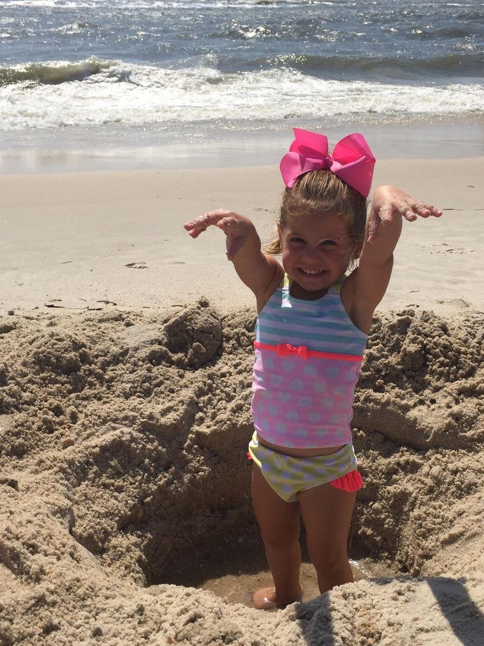Payton Anci enjoying Lanor Day at TOBAY beach