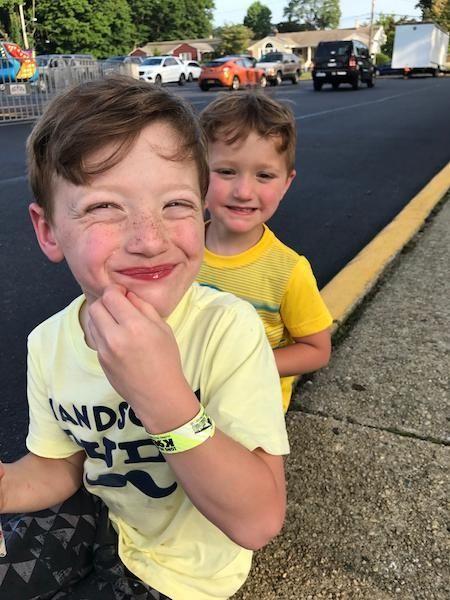 Jackson and Chase enjoying the St.Rose family festival