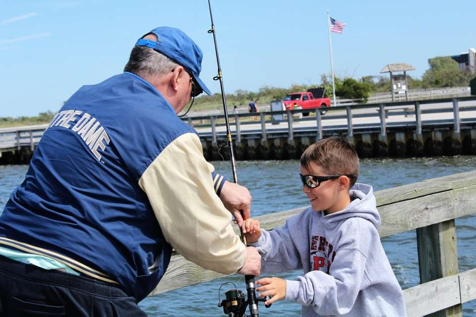 REEL EM' IN - My grandson Aiden and