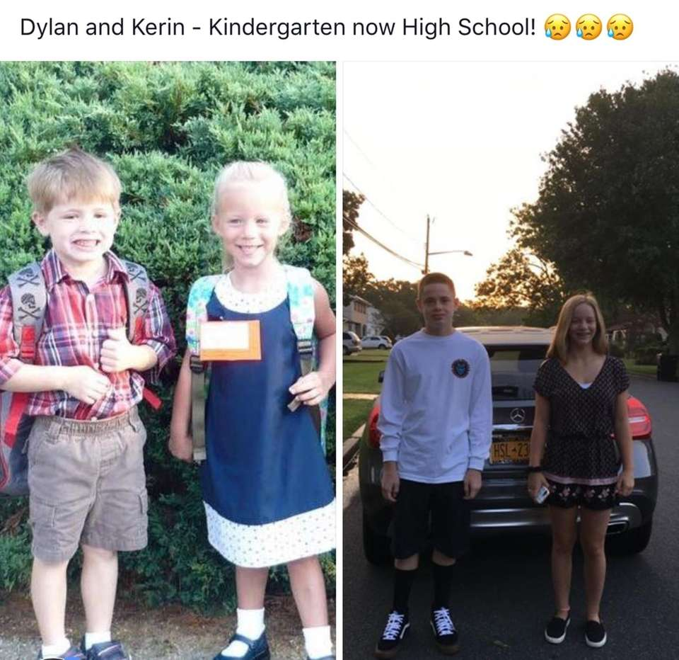 Dylan and Kerin - First day of school