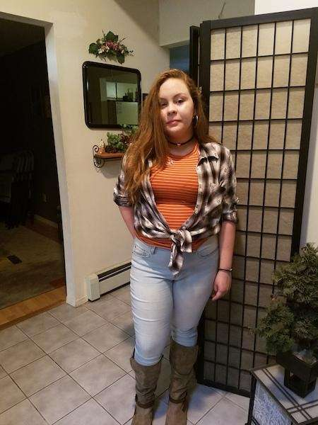 Savannah on her 1st day of 8th grade!