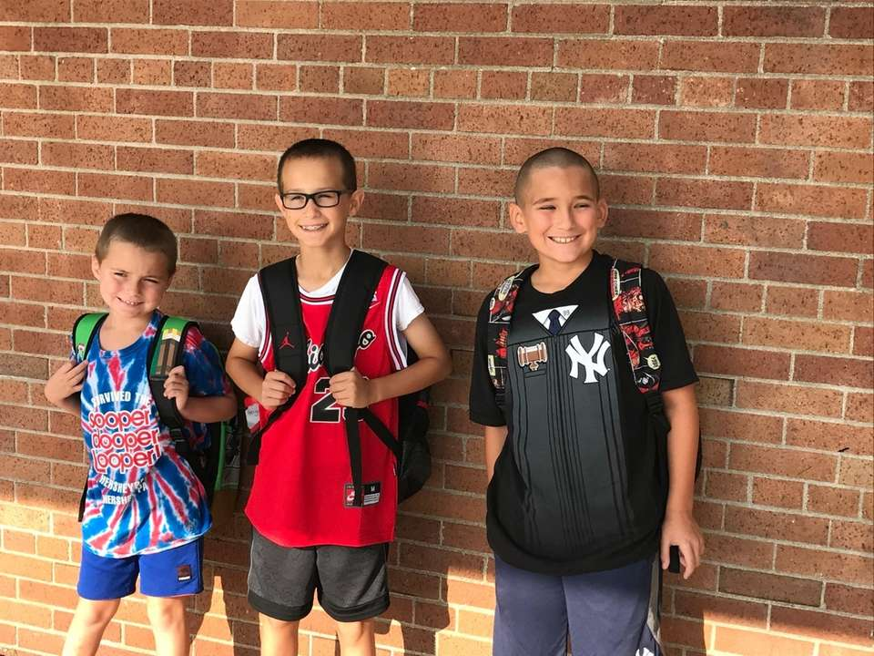 Best friends starting their first day of fourth