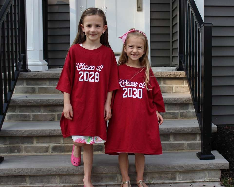 Reagan and Alex Dunn on their first day