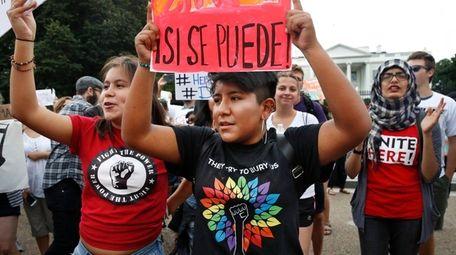 Juliana Torres, left, and Micaela Lattimer, both 16