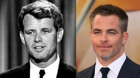 Chris Pine, right, will portray Robert F. Kennedy,