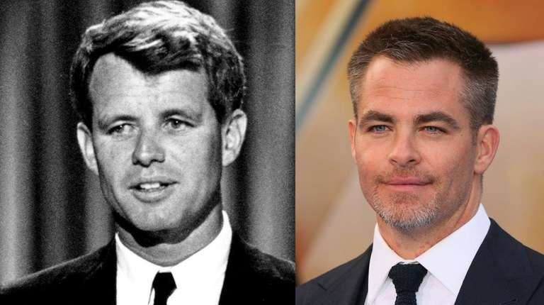 Chris Pine, right, will portray Robert F. Kennedy,