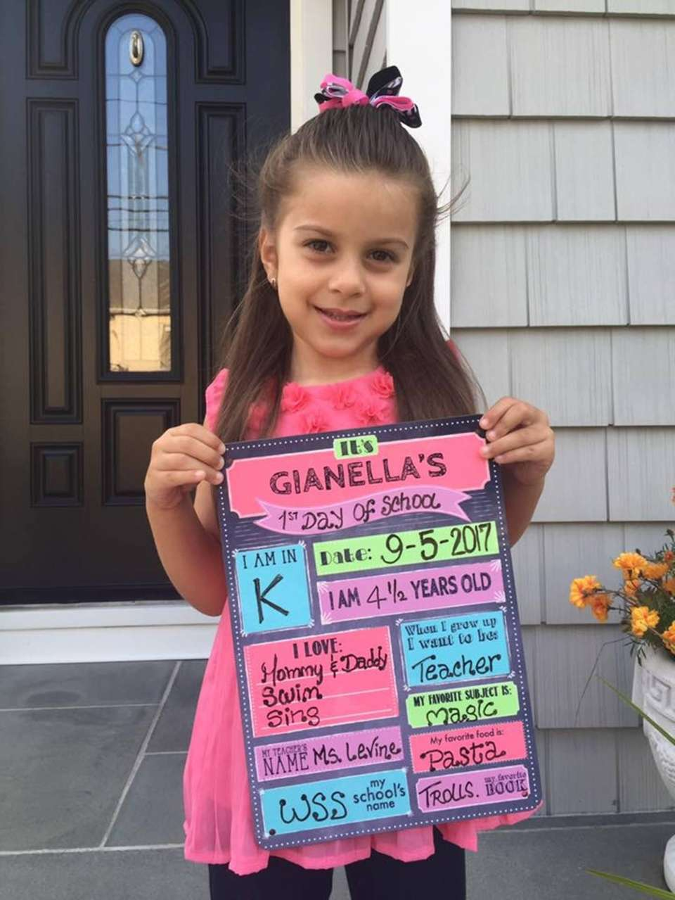 Gianella is ready for her first Day in