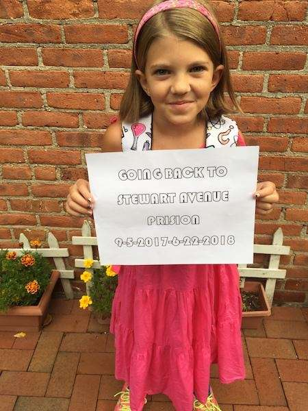 Amelia Moran, 8 from Garden City, NY. Her