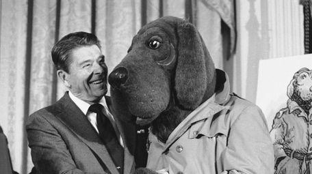 President Ronald Reagan meets
