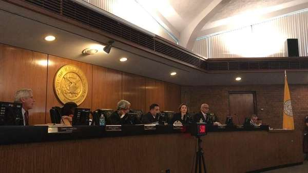 The Hempstead Town Board held a contentious public