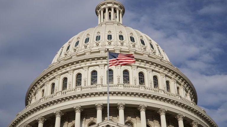 The U.S. Capitol is seen as Congress returns