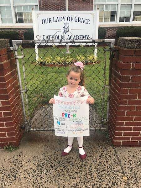 Makayla B. starts her first day at Pre-K!