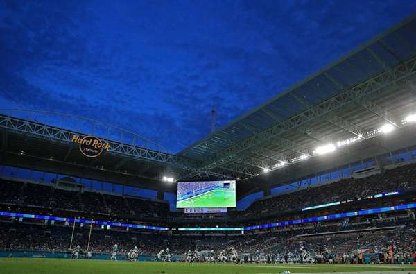 A general view of Hard Rock Stadium during