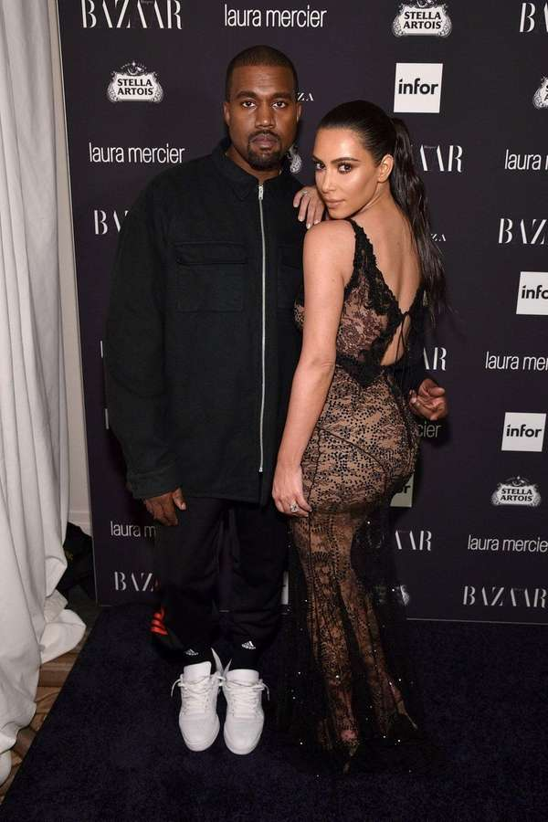Kanye West and Kim Kardashian at The Plaza