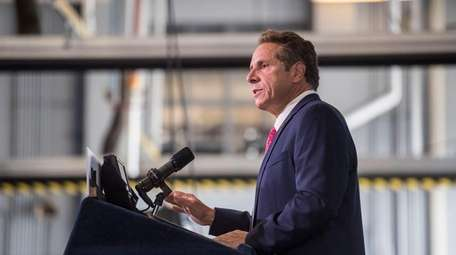 Gov. Andrew M. Cuomo, shown in Queens on
