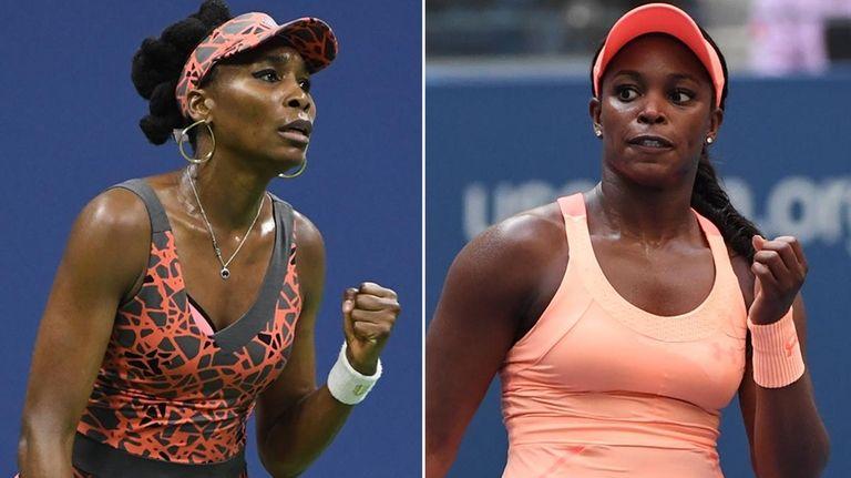 This Newsday composite images shows Venus Williams, left,