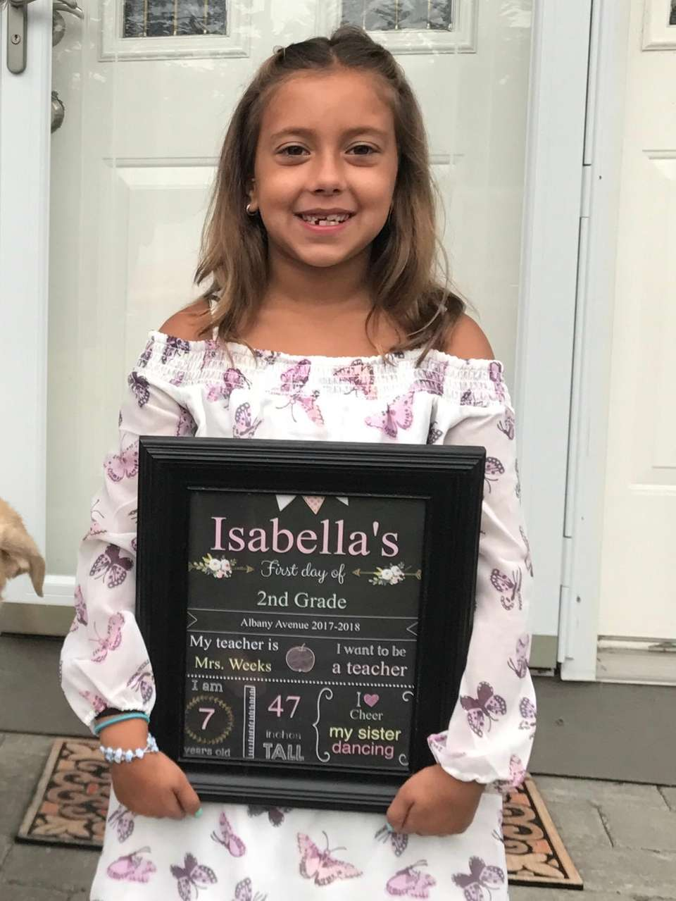 Isabella's first day of 2nd grade
