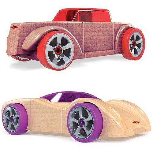 Build, collect and race vehicles with this two-pack
