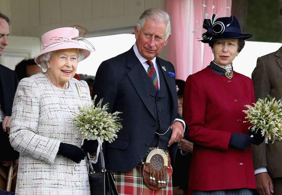 Queen Elizabeth II, Prince Charles and Princess Anne