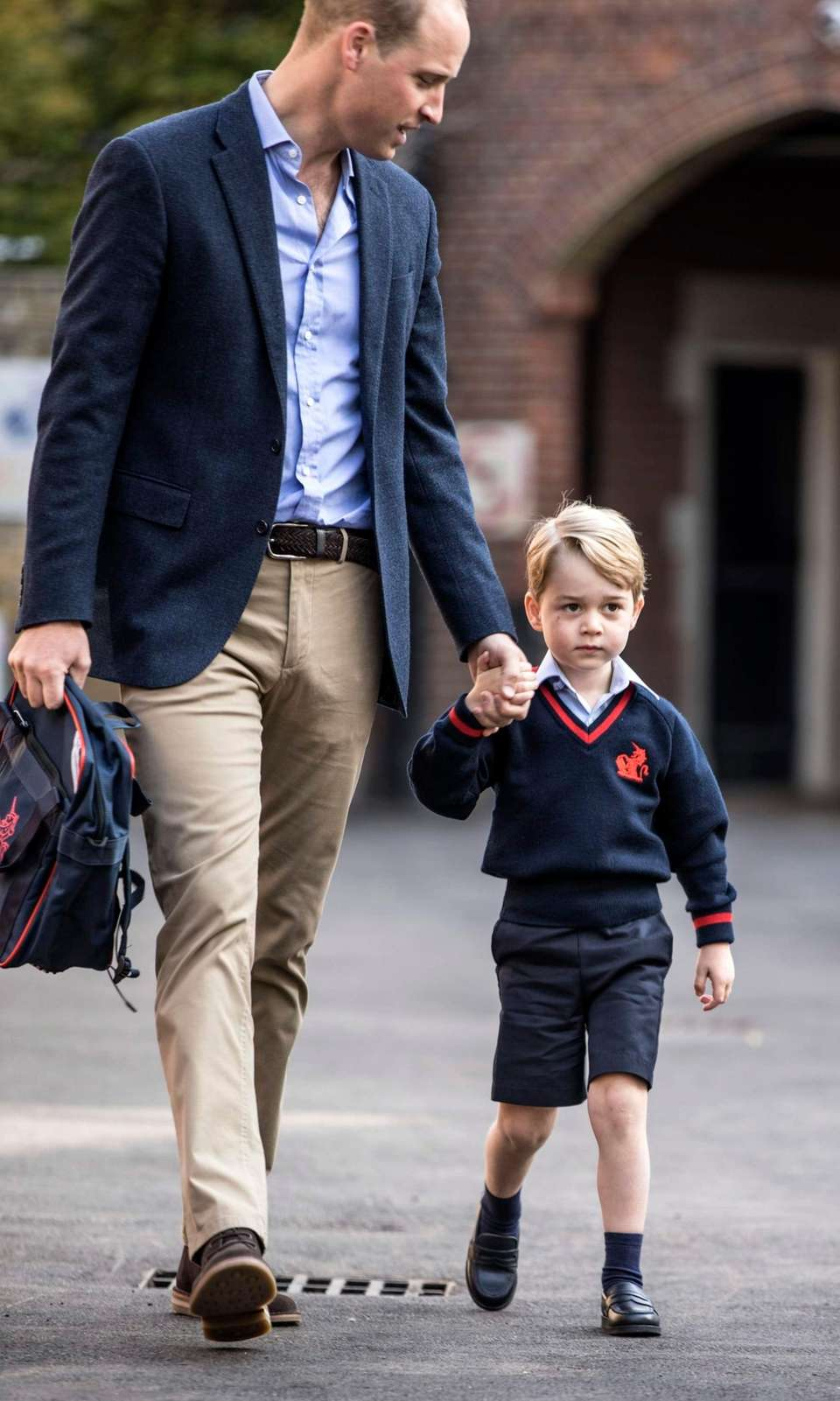 Prince William takes Prince George to his first