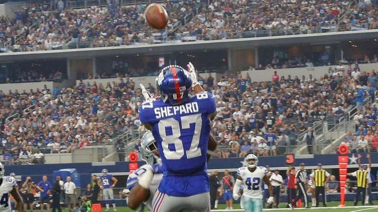 New York Giants wide receiver Sterling Shepard (87)