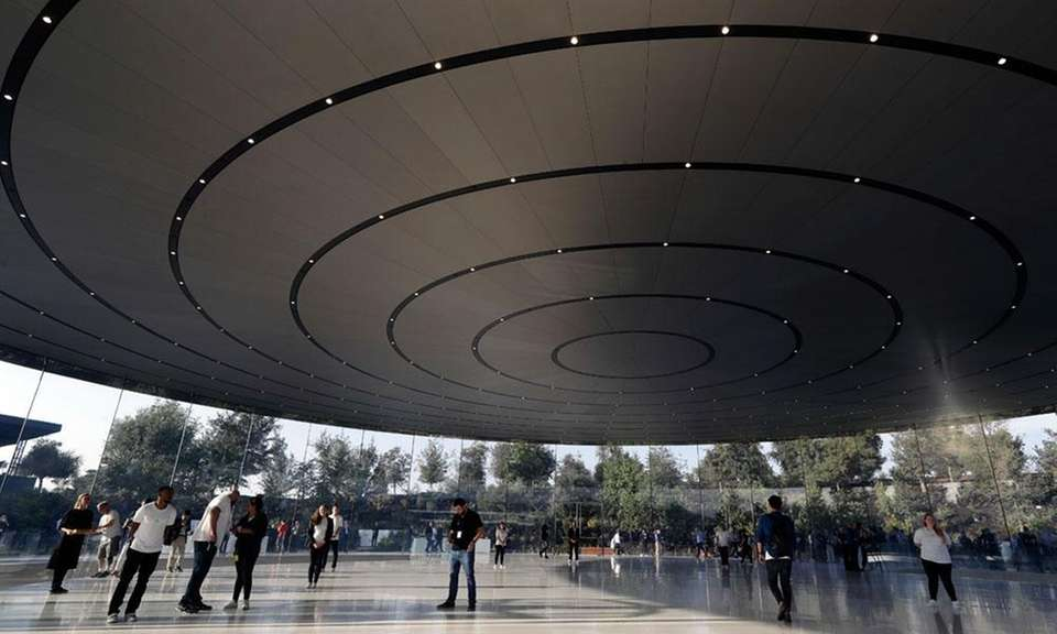 Apple held its first event at the brand-new