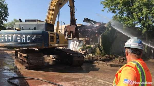 Demolitionbegan in the Village Square area of downtown