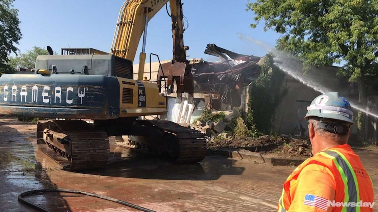 Demolition began in the Village Square area of downtown