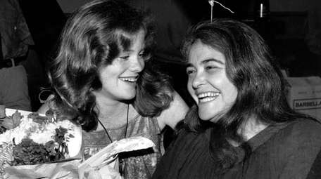 Kate Millett, right, with niece Kristan Vigard in