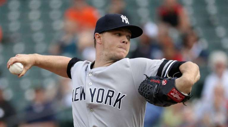 Sonny Gray of the New York Yankees allowed