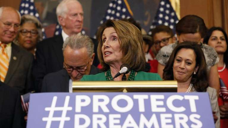 House Minority Leader Nancy Pelosi (D-Calif.) speaks at