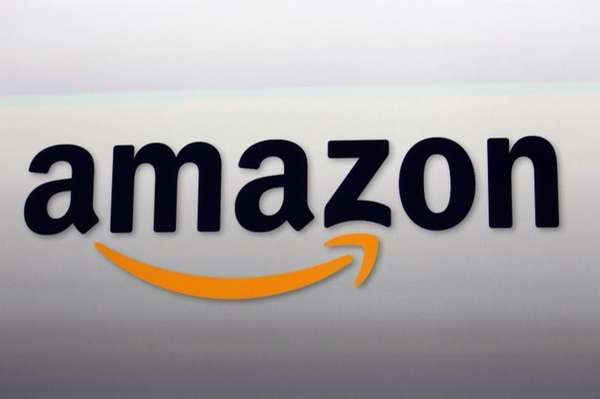 The Amazon logo is seen on Sept. 6,