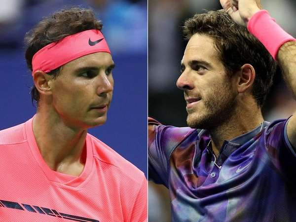 Rafael Nadal, left, will take on Juan Martin