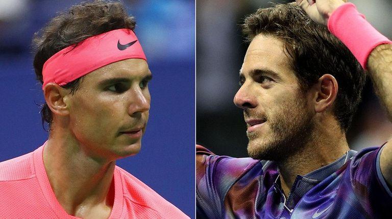 Rafael Nadal, left, will take on Juan Martin