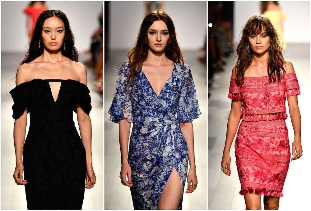 It was a packed-to-the-rafters show for Tadashi Shoji,