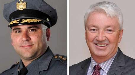 Lawrence Zacarese and Phil Boyle, candidates in the