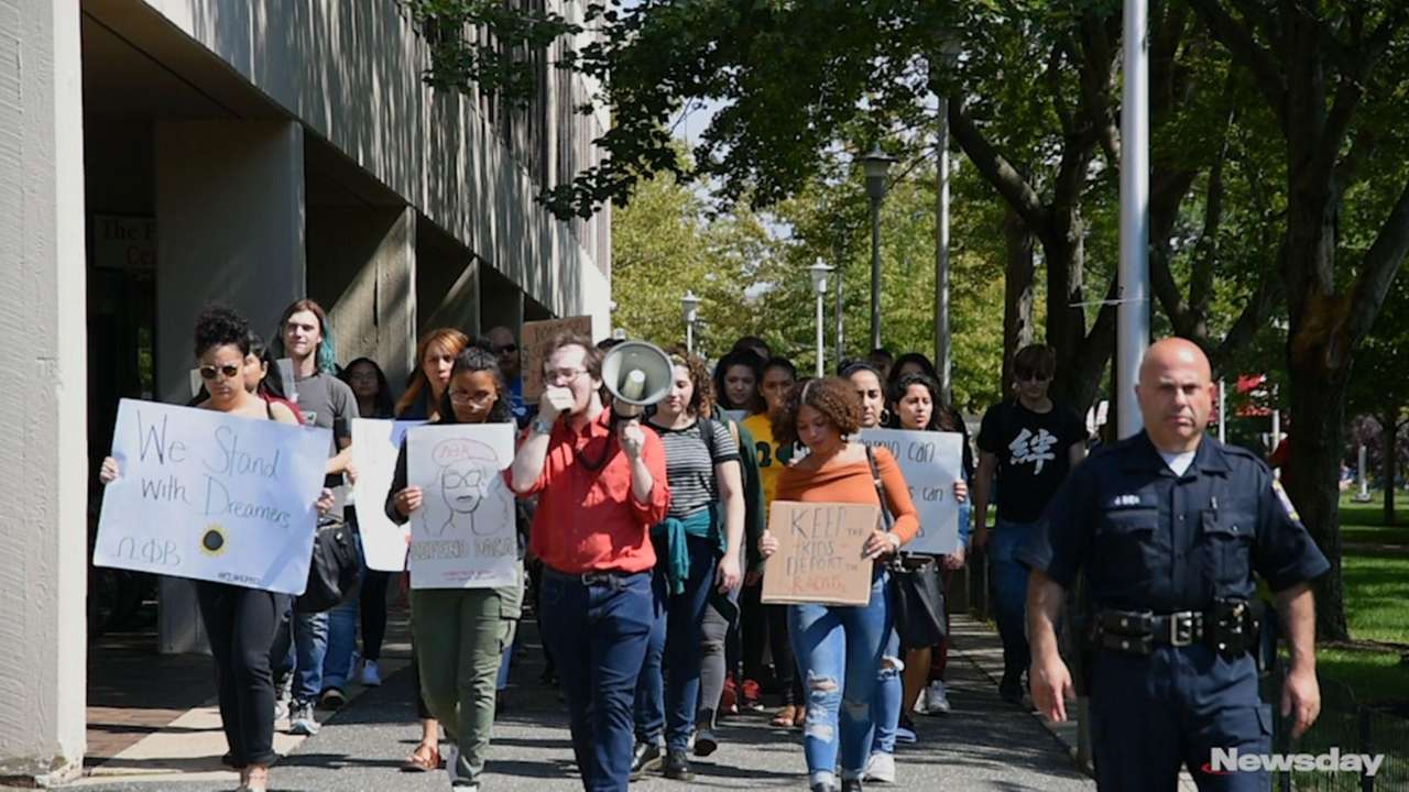 More than 200 students, faculty and administrators rallied