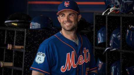 Mets infielder David Wright before a spring training