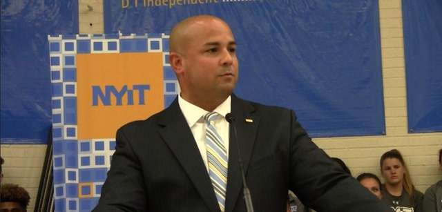 NYIT introduced its new athletic director Dan Velez