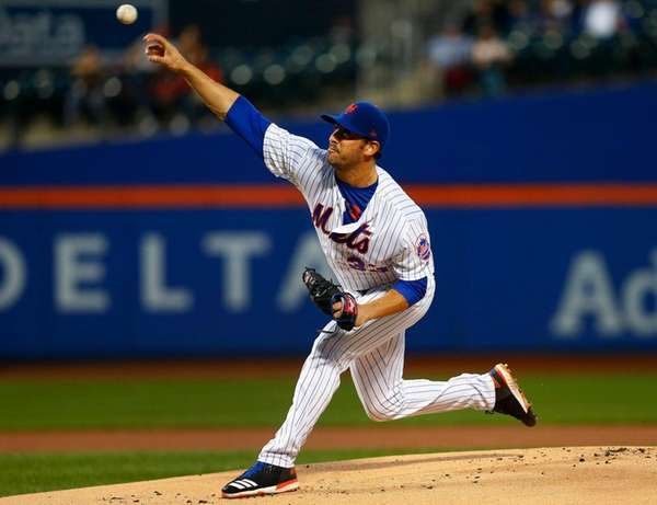Matt Harvey of the Mets pitches in the