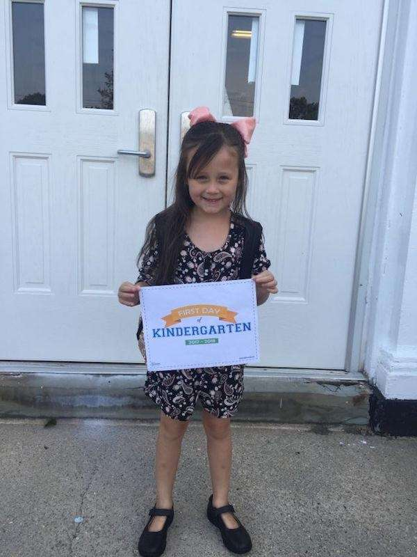 Juliet Kier First Day of Kindergarten New Hyde