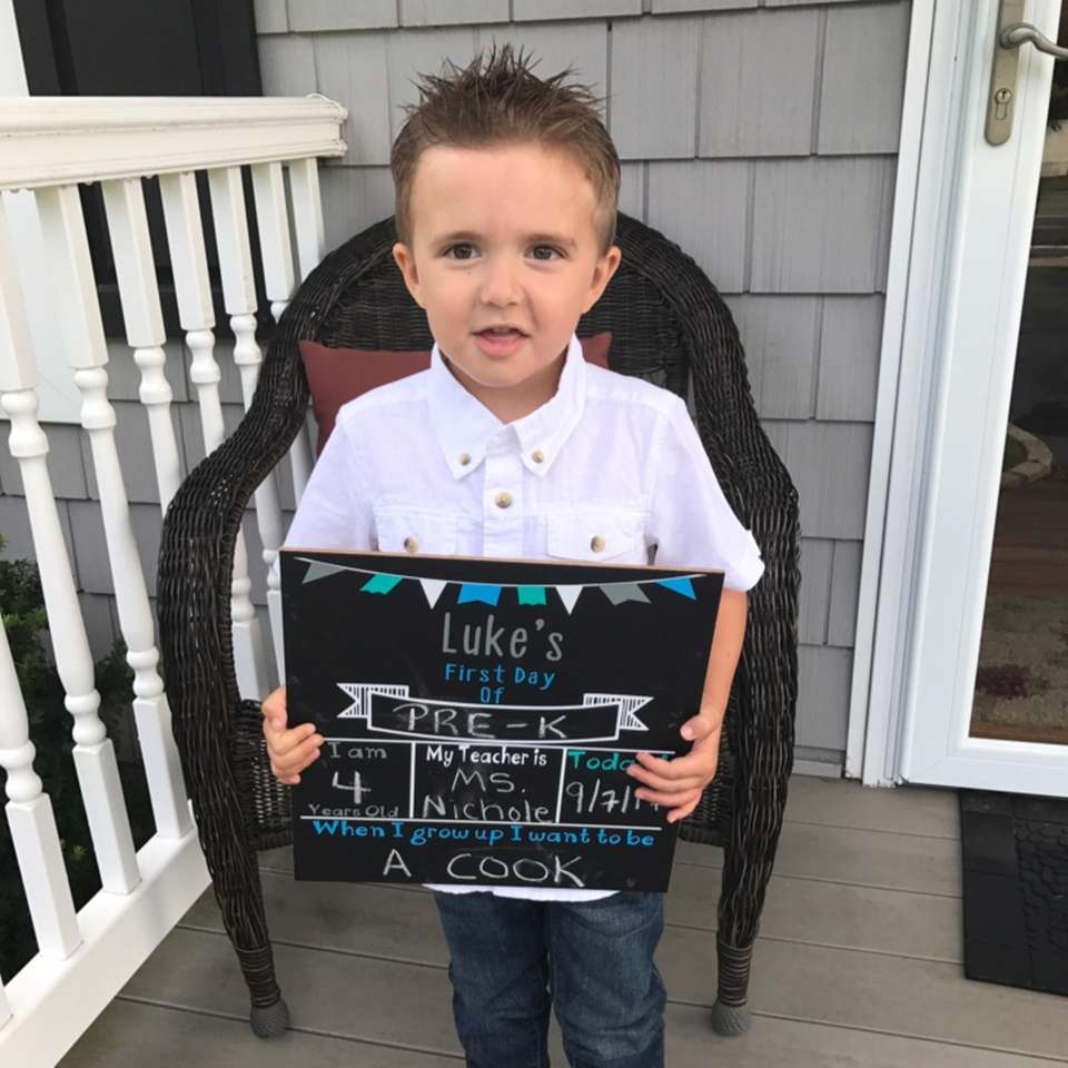 Luke's first day of Pre-K