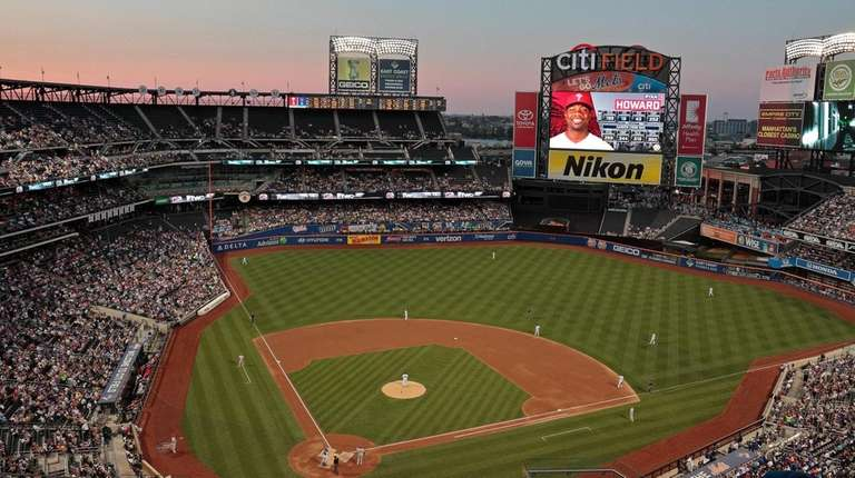 An aerial view of Citi Field in 2016.