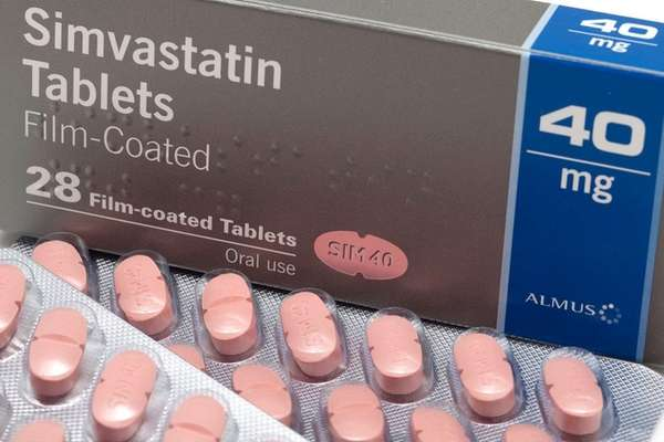 Simvastatin, a cholesterol drug.