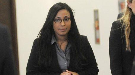 During a break in court proceedings Noriella Santos