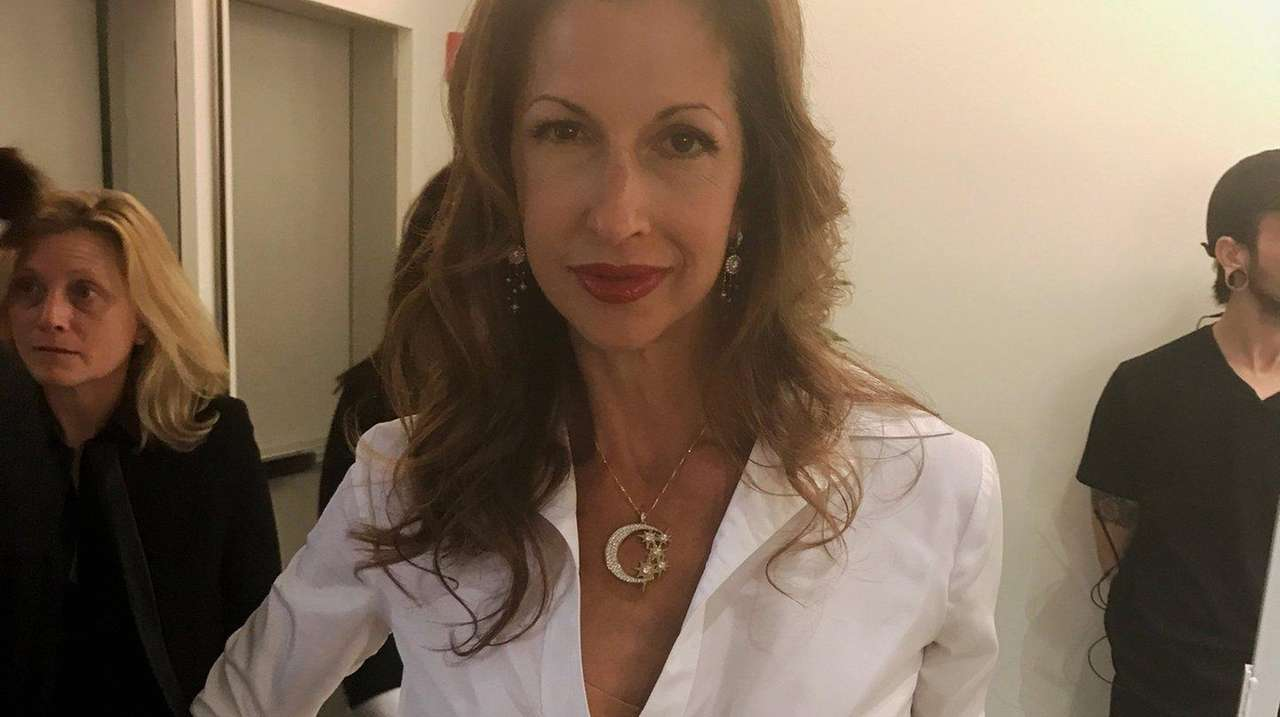 Alysia Reiner hits the Milly show at New York