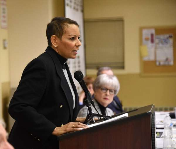 The Rev. Dyanne Pina, executive director of the