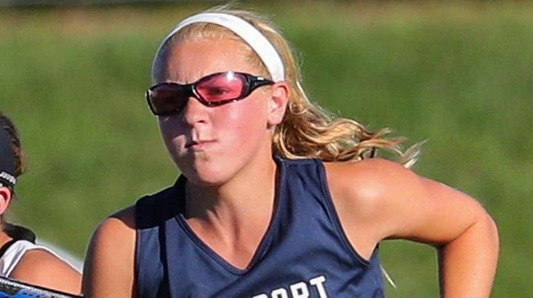Northport's Lily Fox chases down the ball during